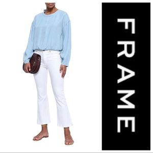 NWT Frame Gathered Chambray Top
